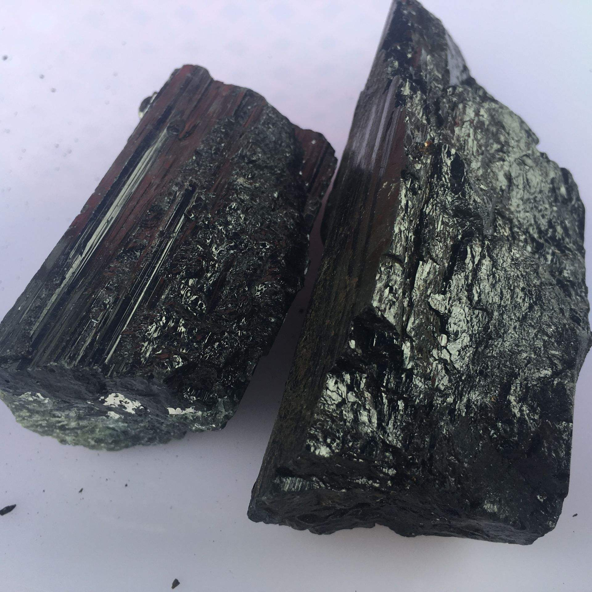 Natural black tourmaline rough stone for collectible and decoration