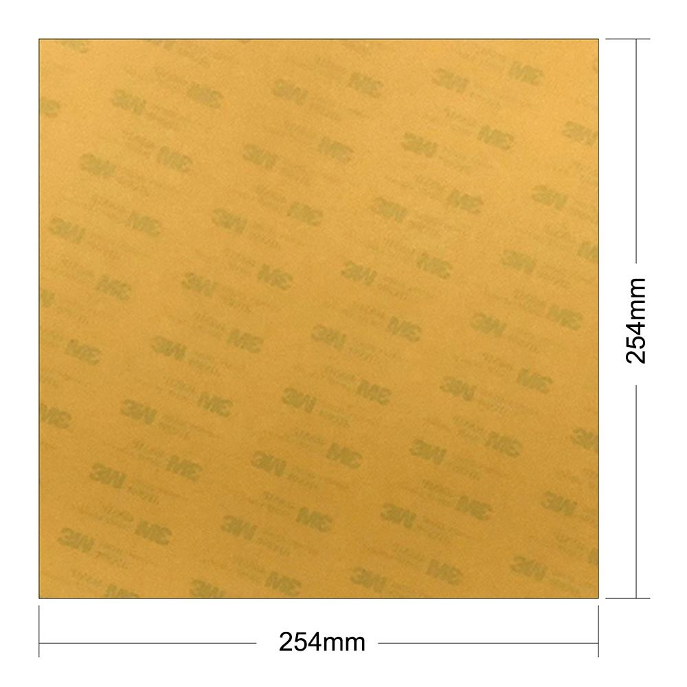 ENERGETIC 2pcs 1mm PEI Sheet 254x254mm 3D Printer Build Surface with 3M 468MP Adhesive for Printrbot Plus, Robo R1+ 3D Printer