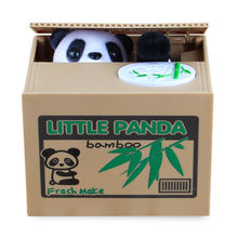 Xiaoboxing Hot selling wholesale custom alcancias panda stealing coin plastic mischief electronic piggy bank