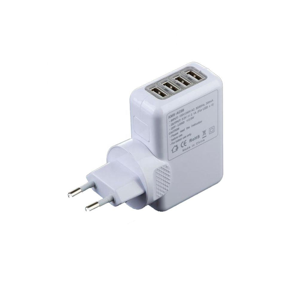 Porta 5V 2.1A 4USB world Travel Adapter Kit Adaptador de energia intercambiáveis <span class=keywords><strong>adaptadores</strong></span>