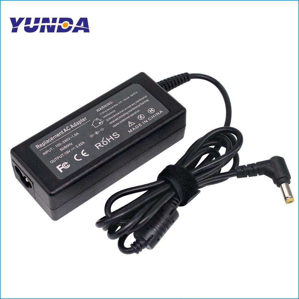 Notebook Charger 19V 3.42A Laptop AC Adapter 65W Catu Daya 5.5 Mm X 1.7 Mm Universal Battery Charger untuk AC E525 E625 E627 E725