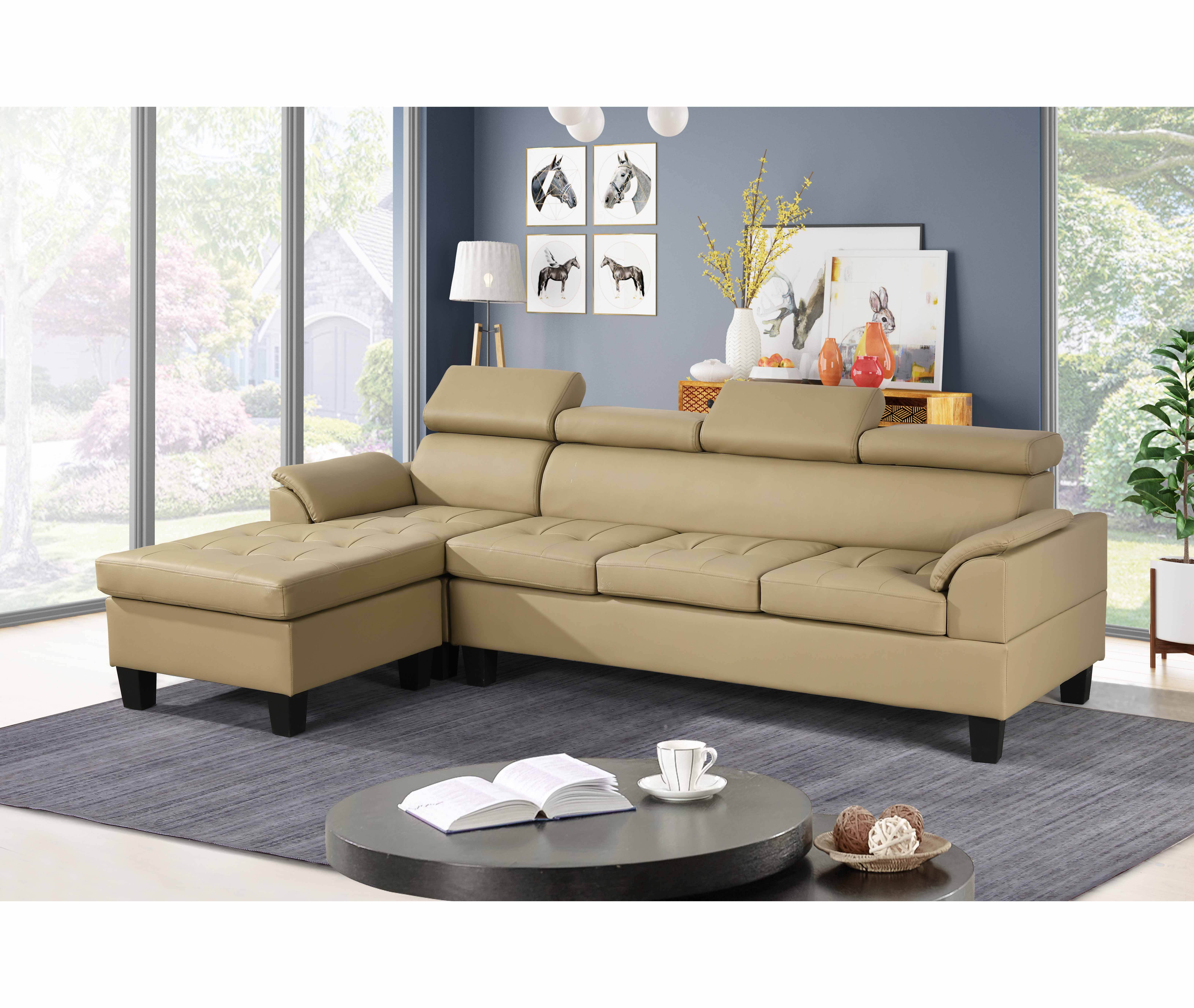 Latest Beige living room leather Factory Custom Wholesale classic cheap sofa