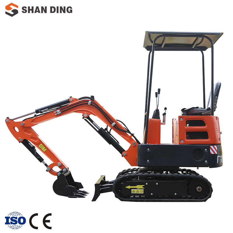 China Shanding SD12D New Mini Digger Hydraulic Mini Crawler Diesel Type Blue Small Excavator 1ton price for Sale