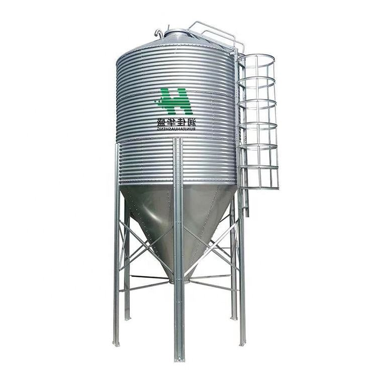 HS Conical Bottom Steel Silos Galvanized Metal Grain Silos Farm feeding silos