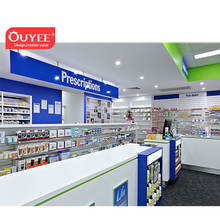 Retail Pharmacy Shop Interior Design Medical Shop Display Furniture Modern Shop Counter Design for Pharmacy Store