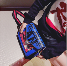 2019 new style of  joker character graffiti the single shoulder bag woman ladies fashion purse printed some letters colorful bag
