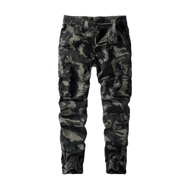 Fashion Style Men Trousers Casual Camouflage Pants Military Work Cargo Plus Size Pant