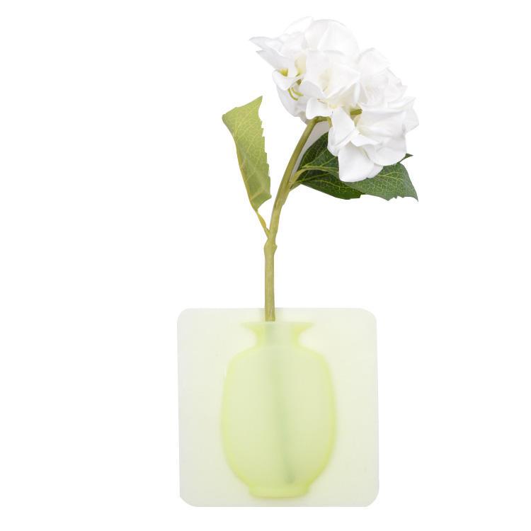 Декоративные съемные самоклеющиеся наклейки на стену, силиконовая ваза для цветов