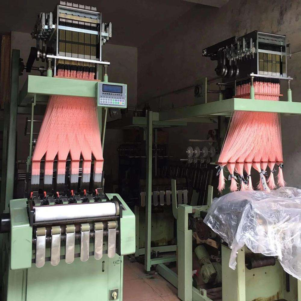 600 pin computer fabric flat jacquard weaving loom machine for webbing elastic