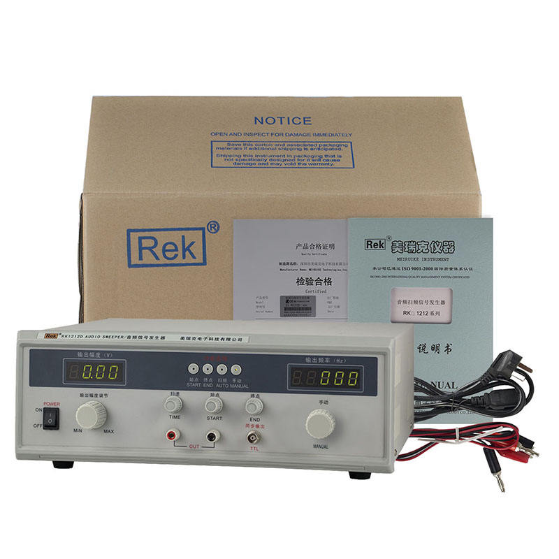RK1212D 40W Speaker Audio Sweep Signal Generator 20Hz-20KHz for Loudspeaker Test