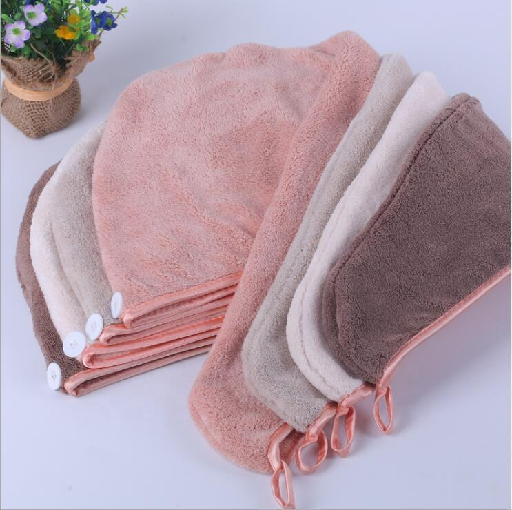 Shower Spa Head Wrap Microfiber Terry Dry Hair Towel