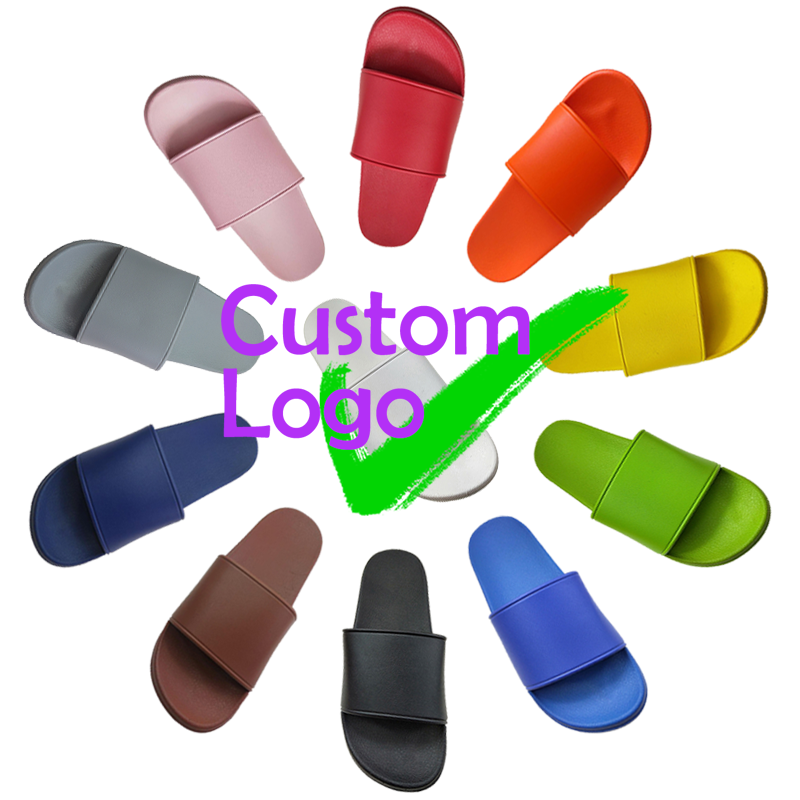 Womens Sides Custom Logo Slippers Suede Slide Sliding Contacts Triangle Slides Sleepers Footwear Colored Bath Tie Dye Slipper