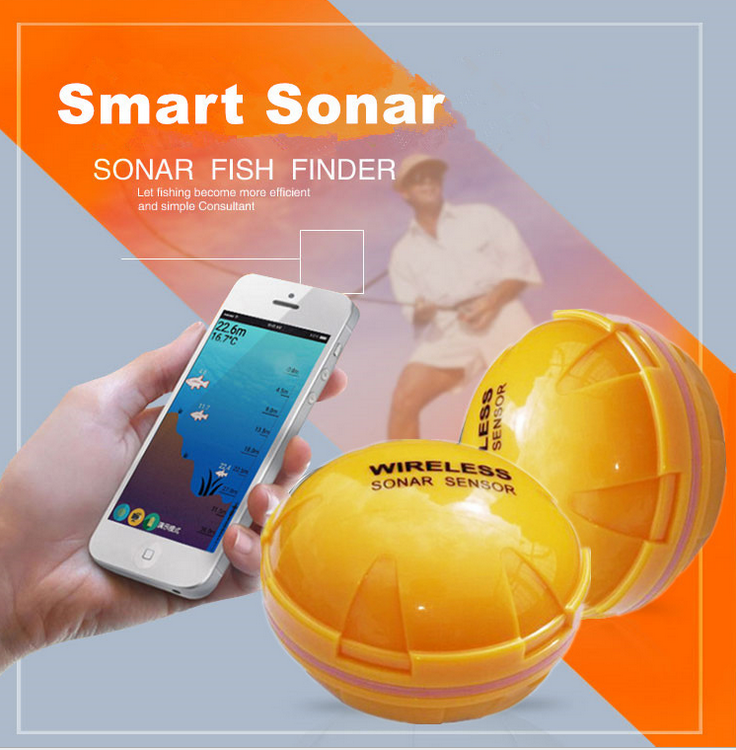 Smart Portable Wireless Fish Finder Fishing Sonar Echo Sounder Alarm Underwater Transducer LCD Backlight Fishing Tackle