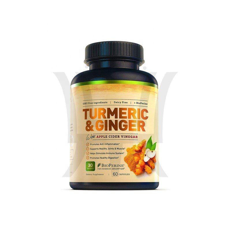 Turmeric Ginger Apple Cider Vinegar 5 In 1 Supplement Promotes Healthy Digestion & Anti-Imflammation,Enhanced Absorption