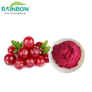 Xi'an Regenboog supply 100% water oplosbare cranberry extract 25% proanthocyanidinen
