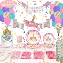 Nicro New Product Optional Custom Kid Favors Decorations Set Birthday Unicorn Party Supplies