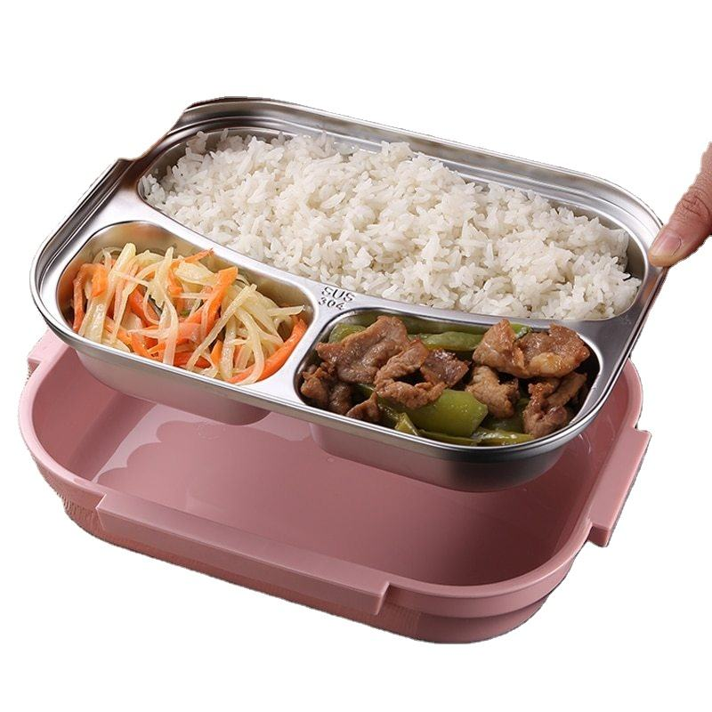 SUS304 Hot-Sell with Plastic Cover Stainless Steel Food Tray Plate