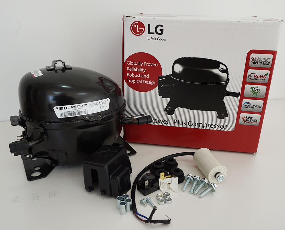 LG China 1/8HP,1/6HP,1/5HP,1/4HP,1/3HP,1/2HP refrigerator compressor with separate carton loading