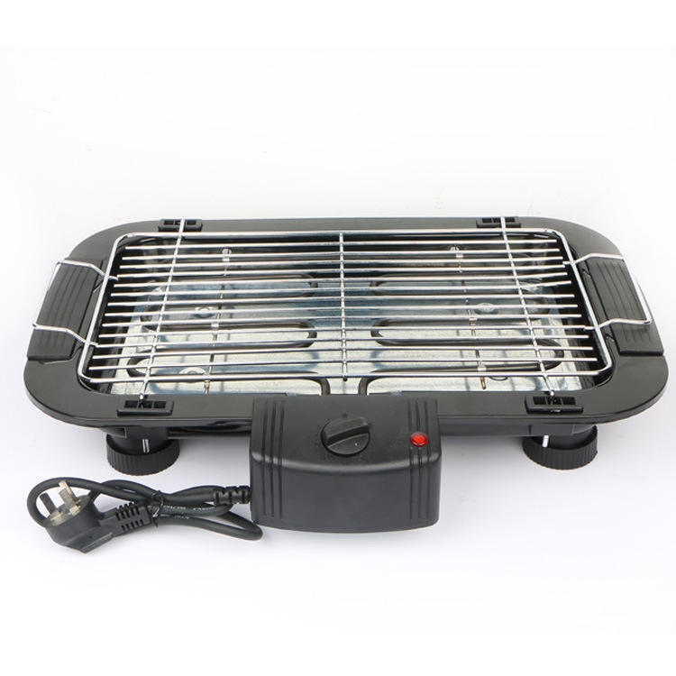 2000W temperature adjustable electric barbecue indoor tabletop smokeless bbq grill