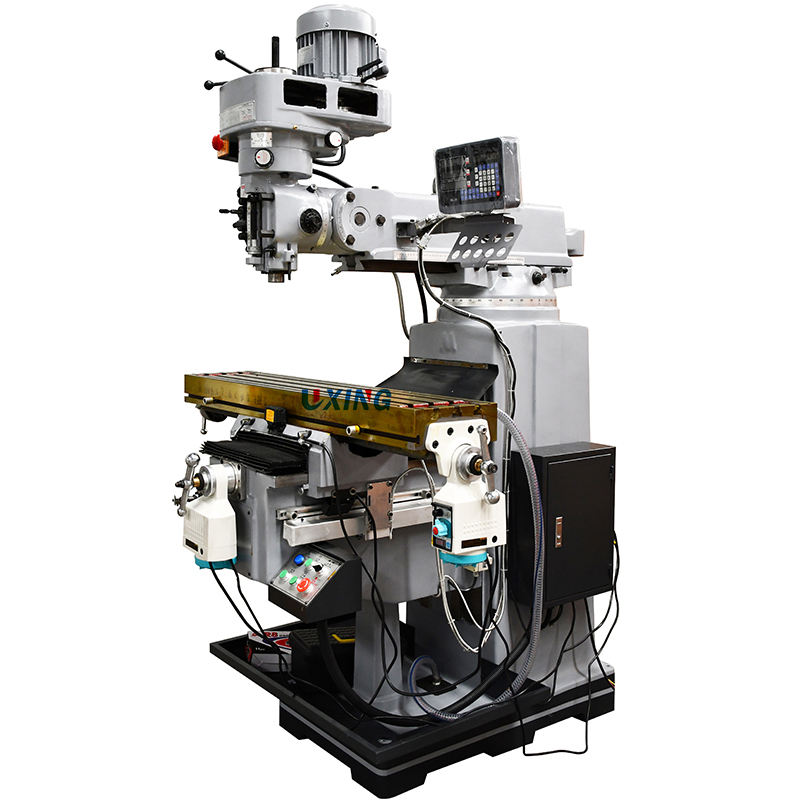 High speed low cost ram 3 axis DRO taiwan manual mills vertical universal fresadora turret milling machine X6325 price for sale