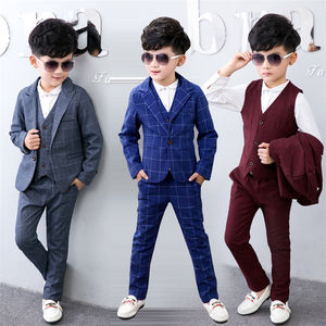 Guangzhou factory supply boy suit autumn winter boy formal Clothes party wear boy's clothing sets