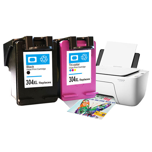 Hicor chip reset black ink cartridge 304 xl show ink level color inkjet 304xl for hp