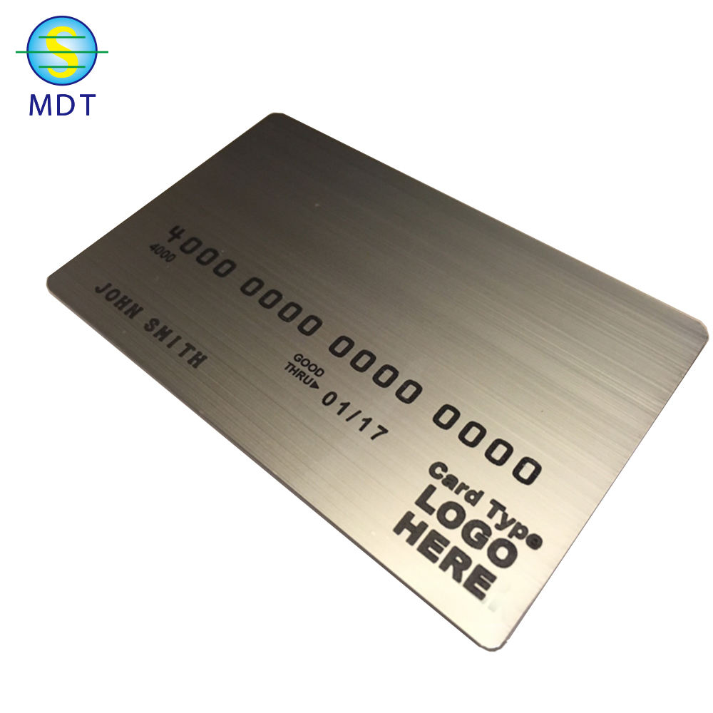 MDT O Brushed finish stainless steel metal business card promotion