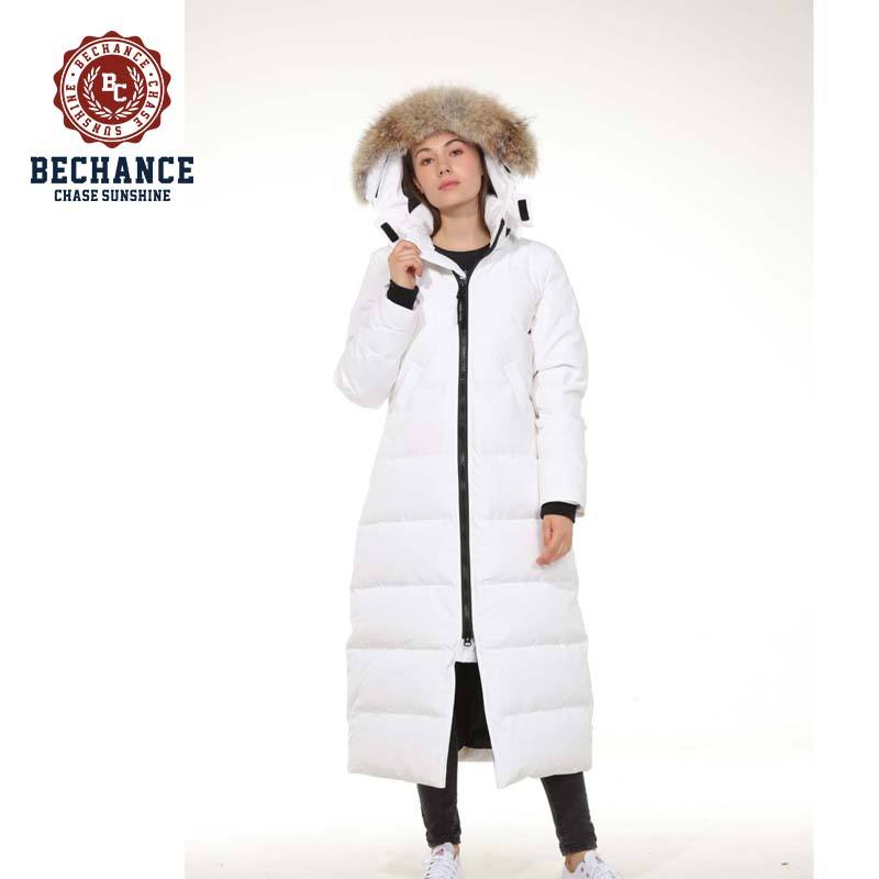 women fashion long down apparel with real fur