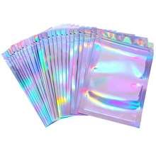 Size Transparent clear front silver backed Aluminized plastic packaging mylar ziplock bag