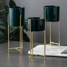 Wholesale Modern Home Decor Metal Indoor Flower Pot Holder Floor Plant Stand
