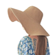 Wholesale Promotional Customized Basic Classic Design Fashion Plain Wide Brim Summer Beach Floppy Straw Sun Women Hat