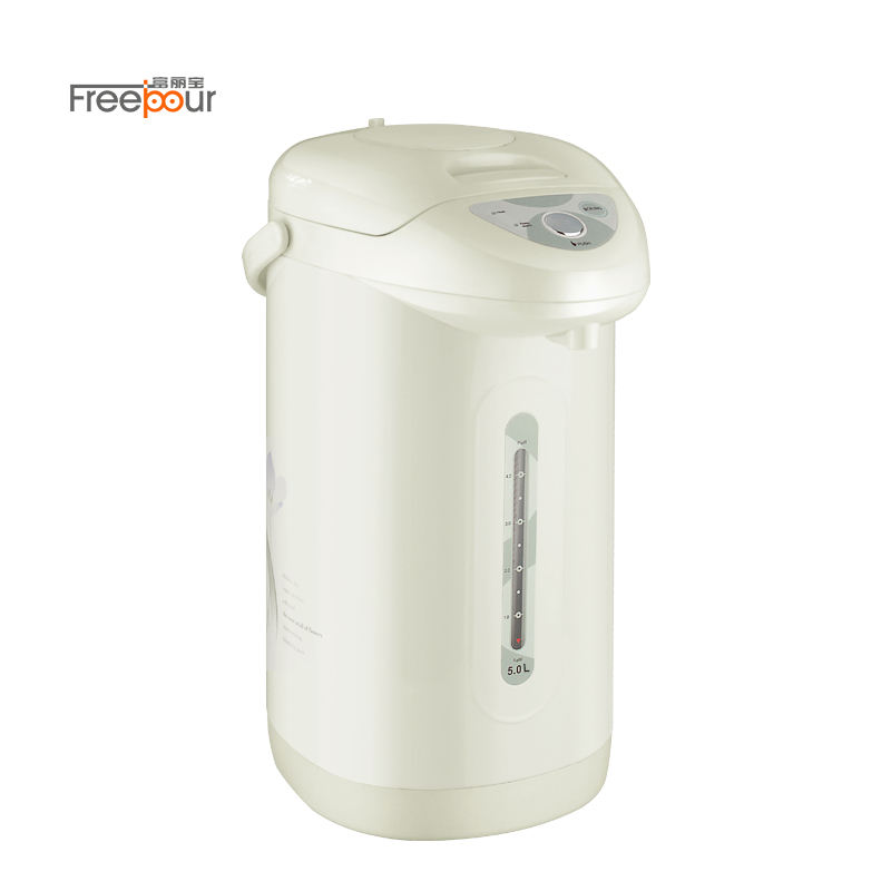 SUS304 Stainless steel 3 ways of water dispensing 3L / 5L thermos electric thermopot white electric air pot thermos