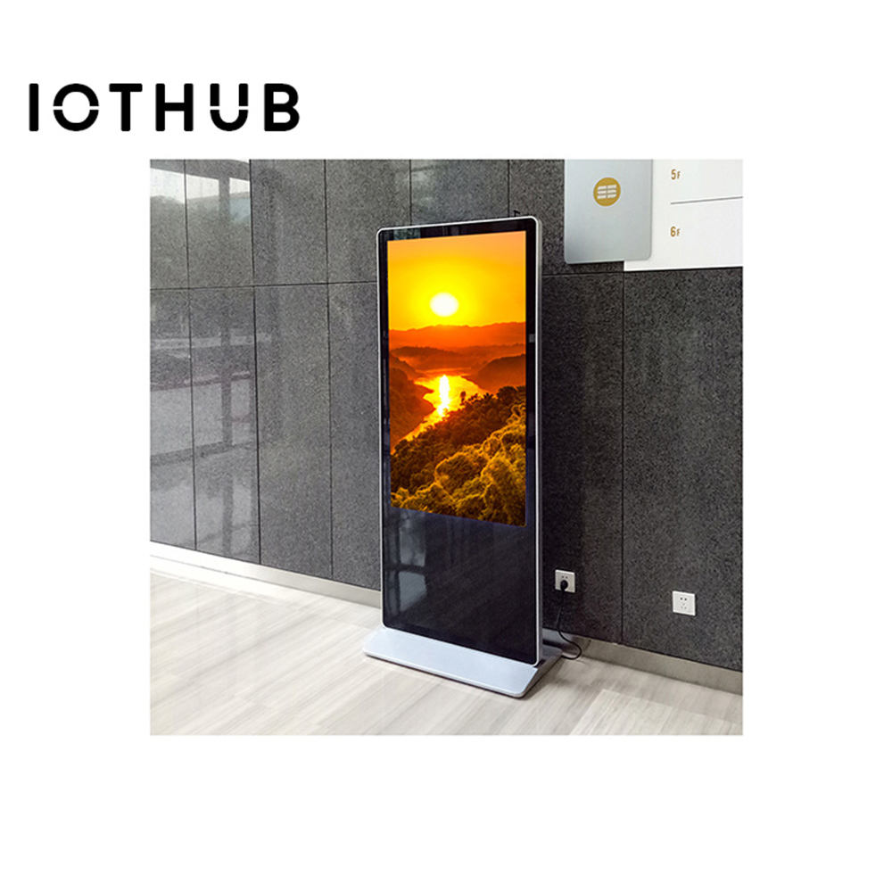 HUSHIDA Shopping mall window advertising screen 1080p floor standing advertising player digital advertising machine smart wifi