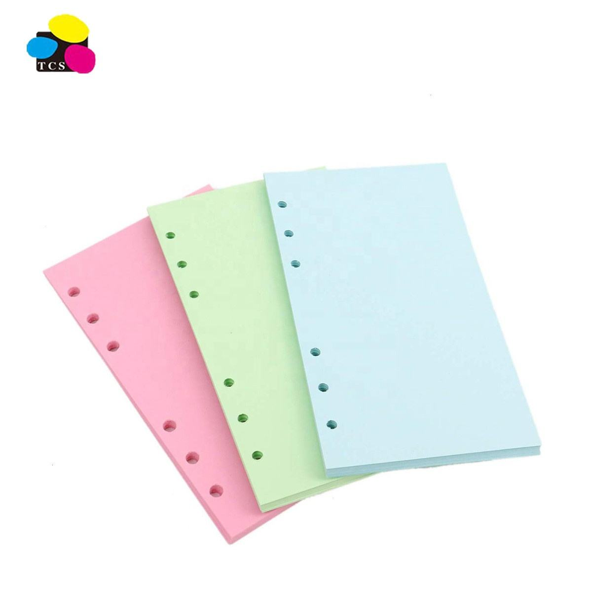 Ins Customizesd 17 x 9.7 cm 240 pages Red/Green/Blue A6 Binder Planner Refills Loose Leaf Filling Paper
