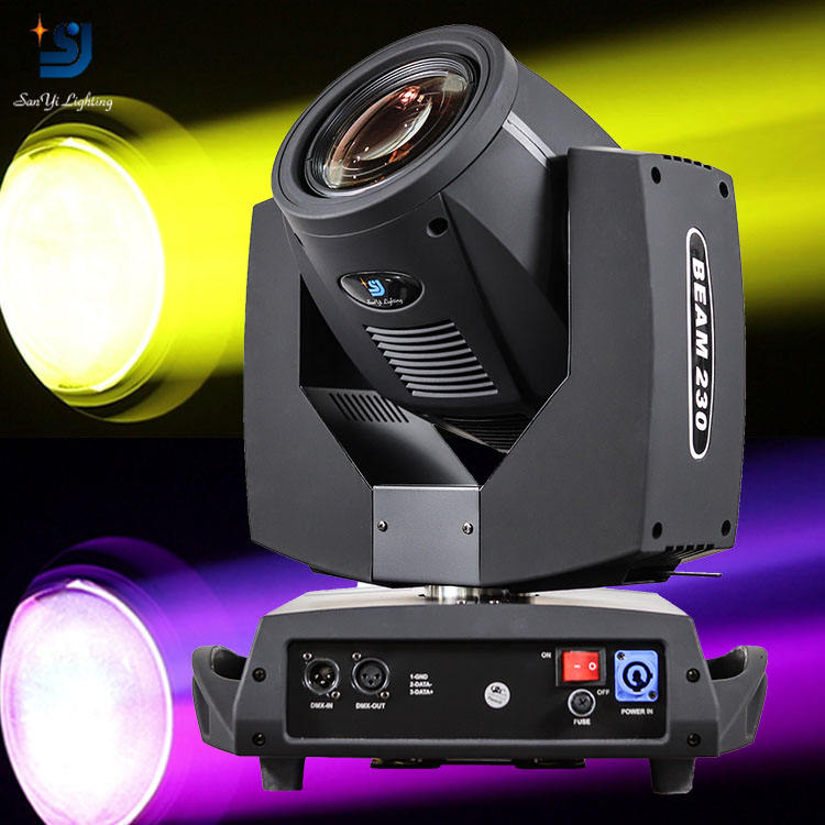 Moving Head Light 230W 7r Beam Spot 3 in1 Beleuchtungs-und Schaltung design Themenpark 1 Jahr ROHS Ip33 3500K (warmweiß) 55 90 Ce