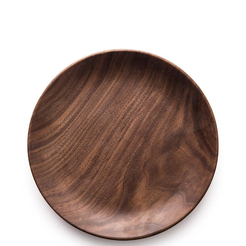 Amazon Hotselling Natural Wood Steak Dinner Serving Plate Customized LOGO Wholesale Souvenir Acacia Wood Dining Plate