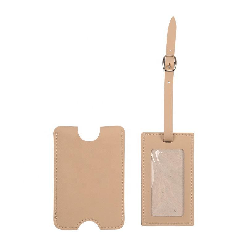 Sample free support customization luggage tag custom PU leather baggage tag