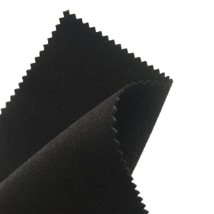 Black Microfiber Suede gloves fabric leather with No fade