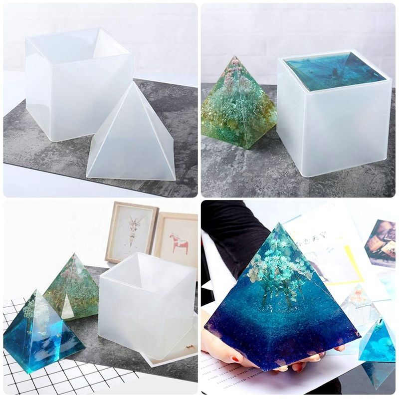 Geometry Mould Triangular Pyramid Mold Epoxy Resin Mold