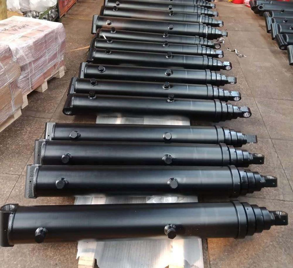 factory design hydraulic telescopic cylinder for front loaders dump truck and trailer