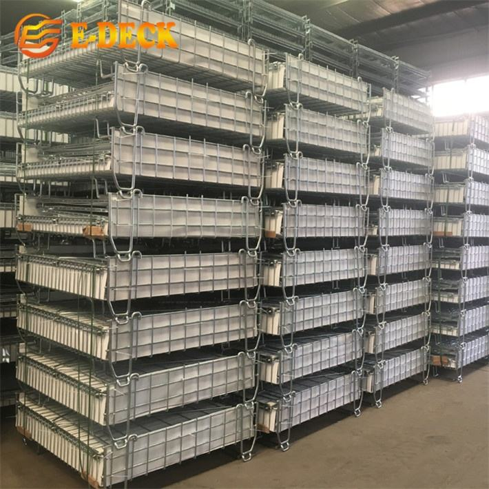 Warehouse Steel Storage Wire Mesh Container Cage