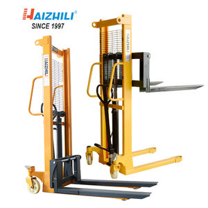 Hand forklift 500kg 1 meter manual pallet stacker with factory price