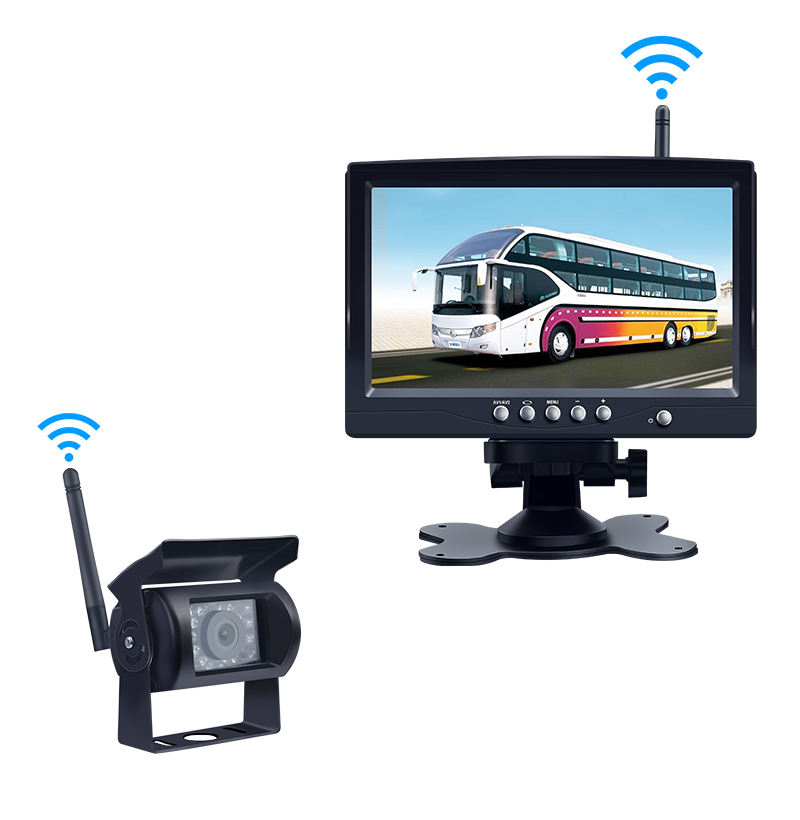 7 Inch TFT LCD Wireless Digital Car Rear View Camera Kit with Monitor Night Vision Camera for Truck Bus truck dvr camera system