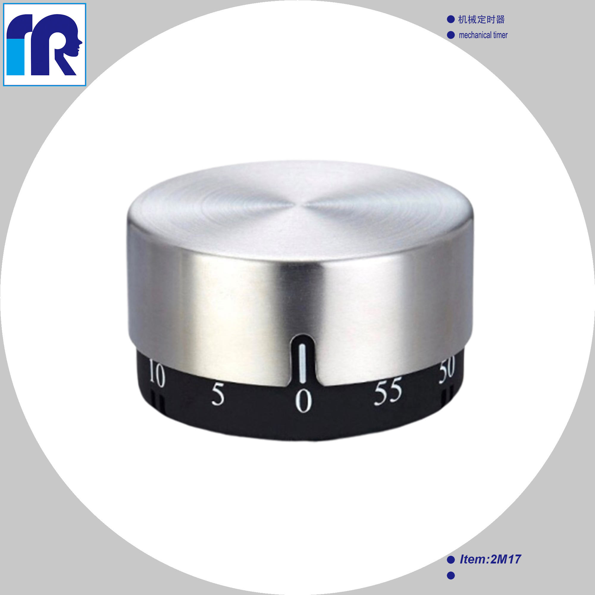 mechanical timer,defrost stainless steel countdown kitchen timer, magnetic cooking timer