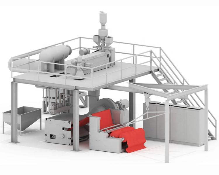 advanced yp-sms pp spunbond and meltblown non woven fabric making machine