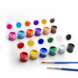 Cheap Price DIY Set of 12 Color 3mL Jars Non toxic Professional Artists Canvas Rock Painting Drawing Kit Acrylic Paint Pot