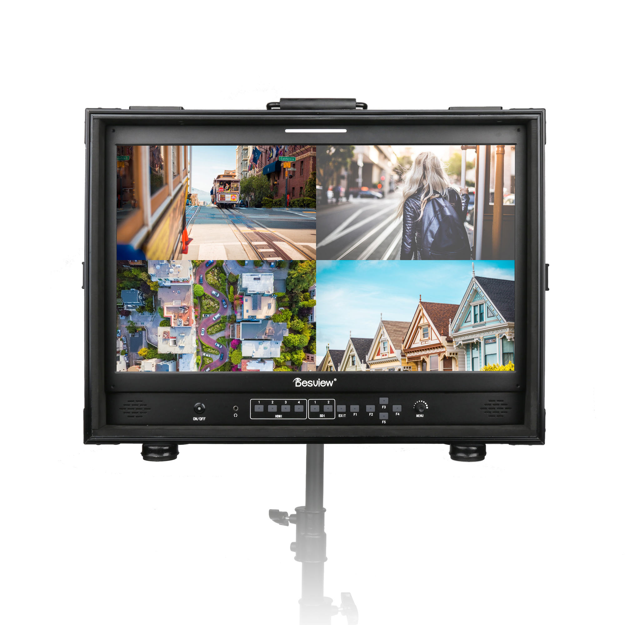 Desview S21-HB 21.5 ''צג מלא HD 1000nits גבוהה בהיר צג 4ch <span class=keywords><strong>HDMI</strong></span> קלט מרובה להציג צג עם HDR/3D-LUT