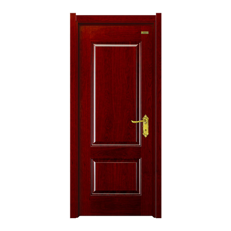 China New Design Solid Veneer Wooden Interior Home Door With Frame