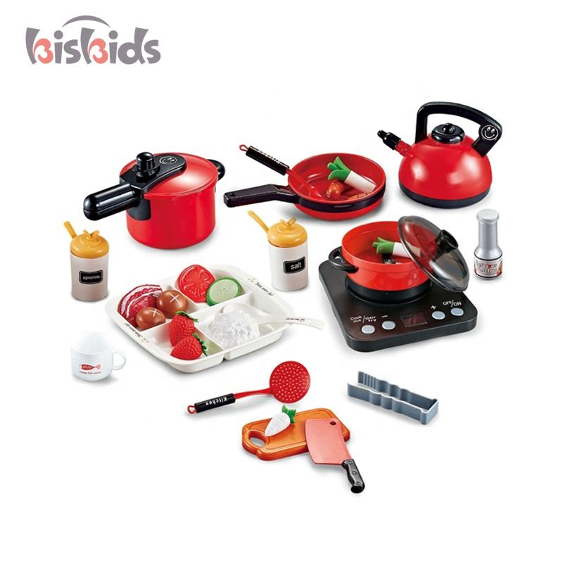 Kitchenware cooking utensils 53 pcs simulation plastic toys kitchen play set with three themes