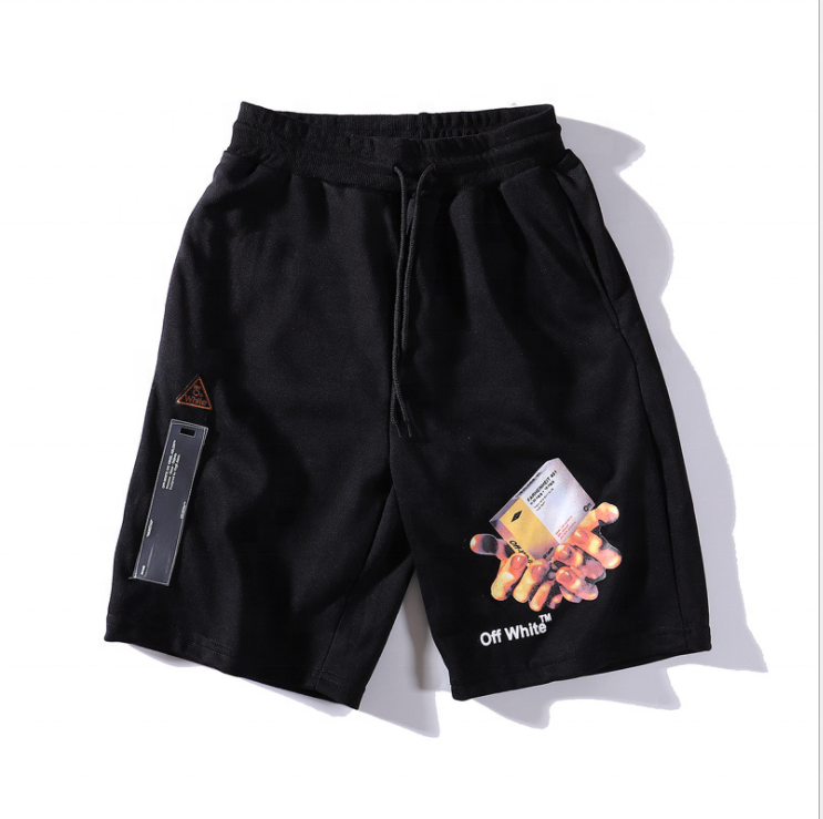 Logo Printing Wholesale Price Men Casual Shorts Thin Two Colors Pants